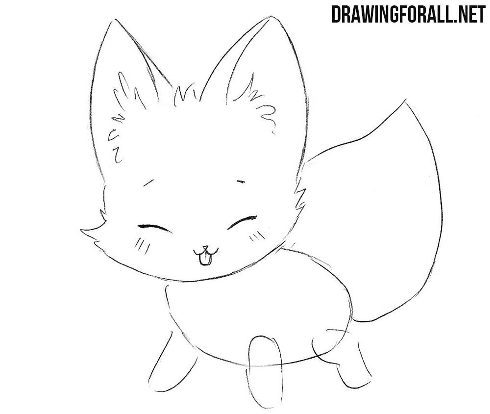 How to Draw a Chibi Fox step by step