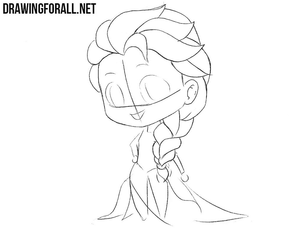 How to draw Chibi Elsa