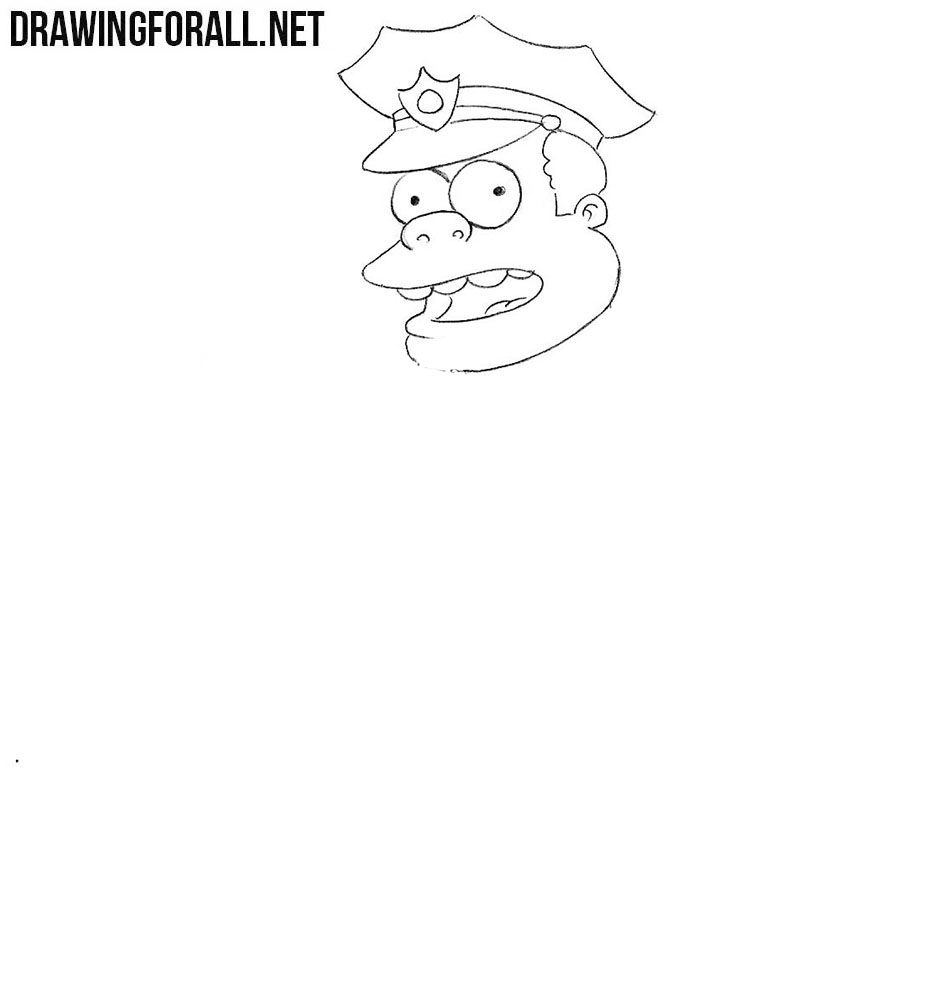 How to draw Chief Wiggum easy