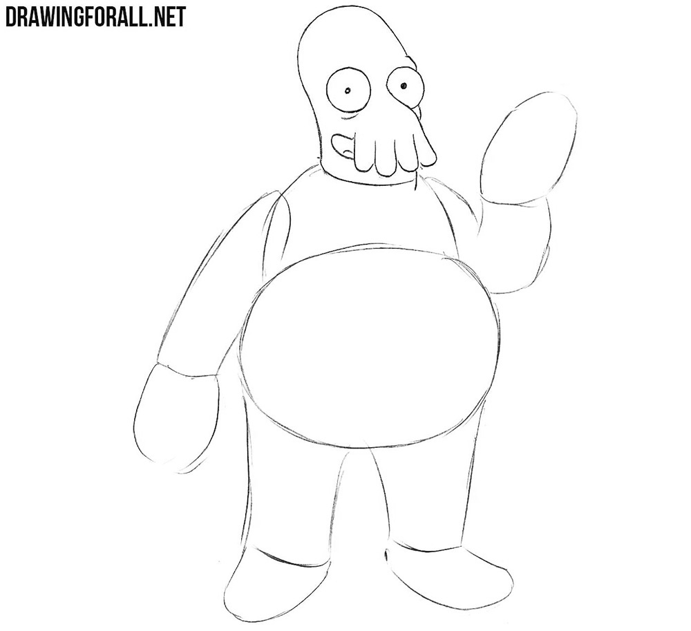 How to draw Dr Zoidberg easy