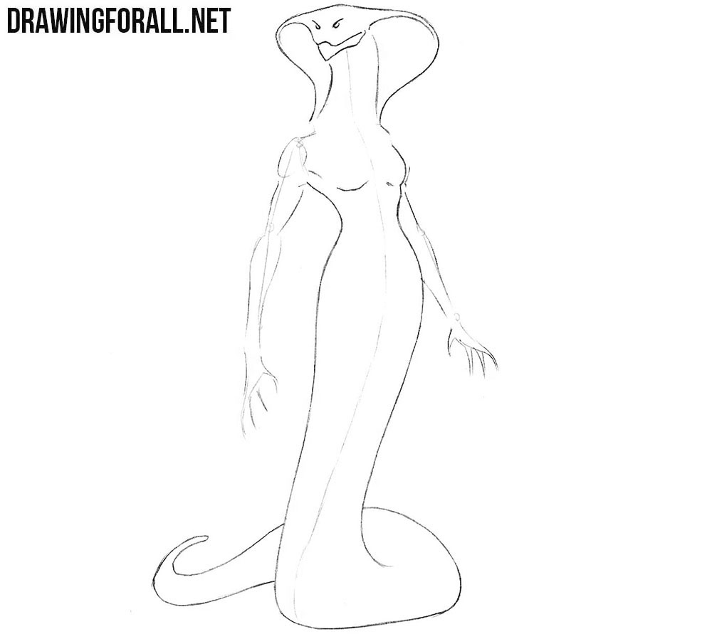 How to draw Lamia
