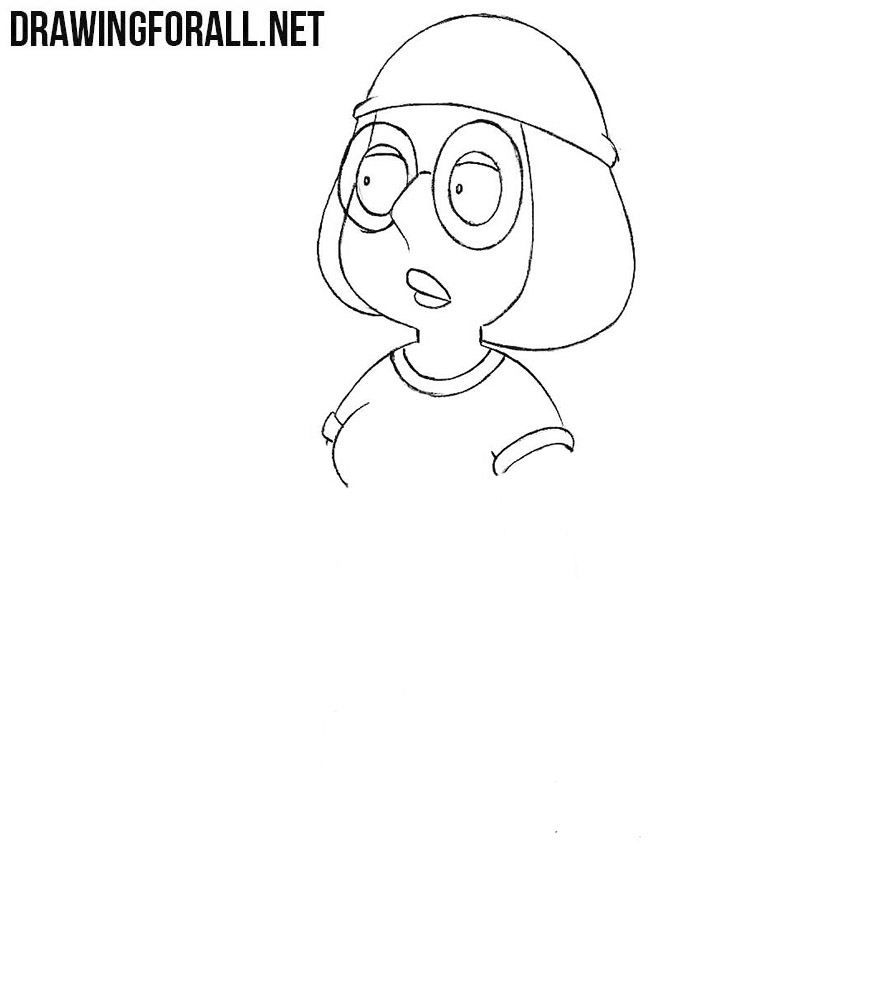 How to draw Meg Griffin step by step