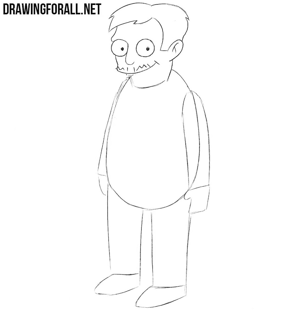 How to draw Nick Riviera from the simpsons