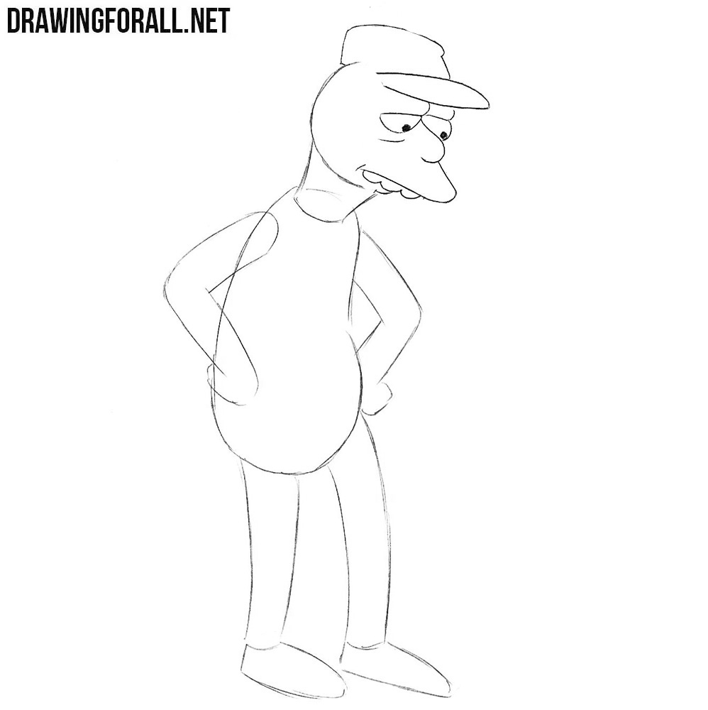 How to draw Otto Mann the bus driver