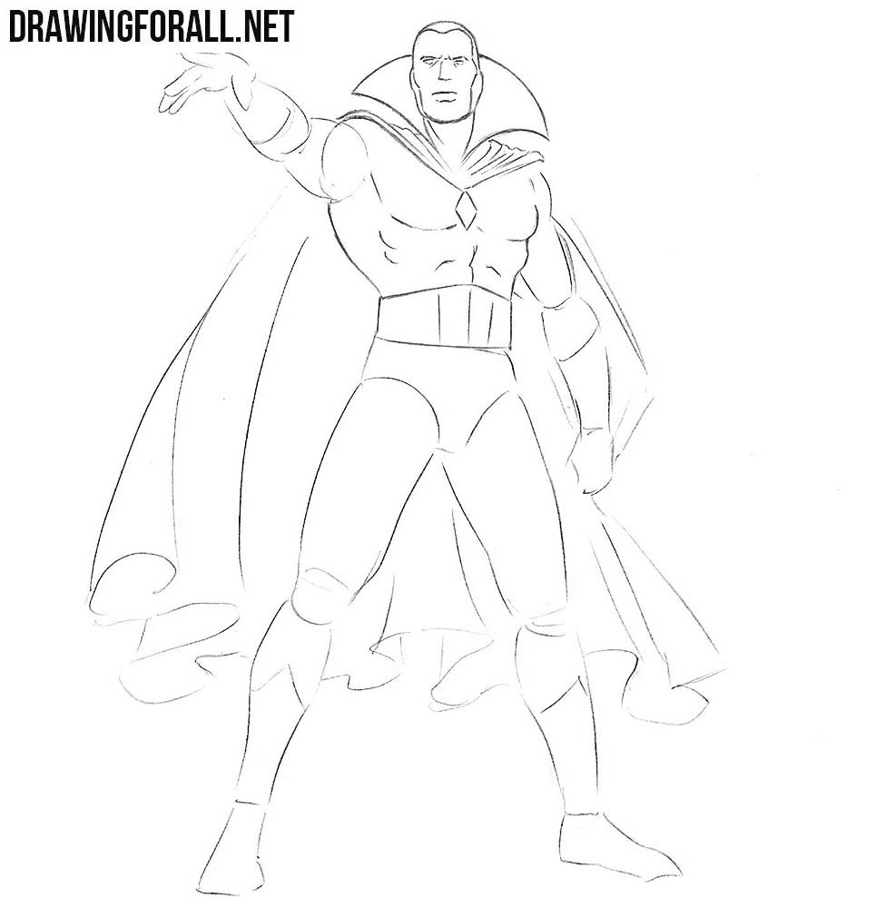 How to draw Vision from marvel comics