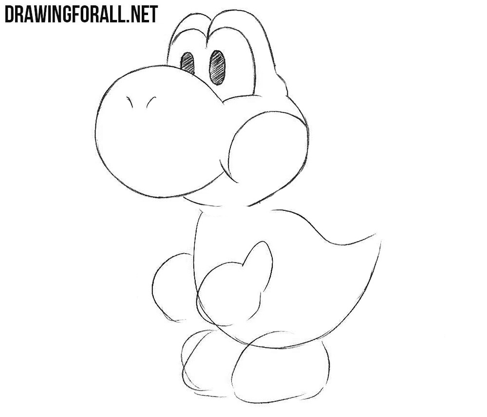 How to draw Yoshi step by step