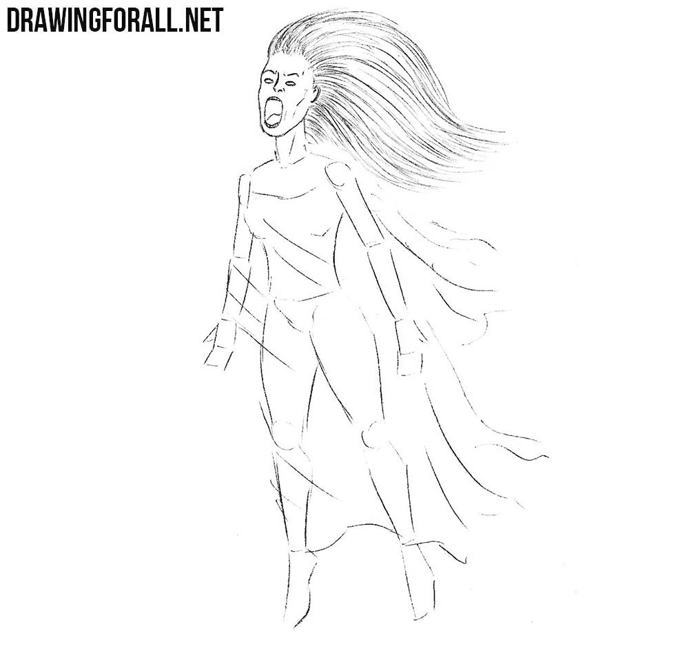 How to draw a Banshee from legends