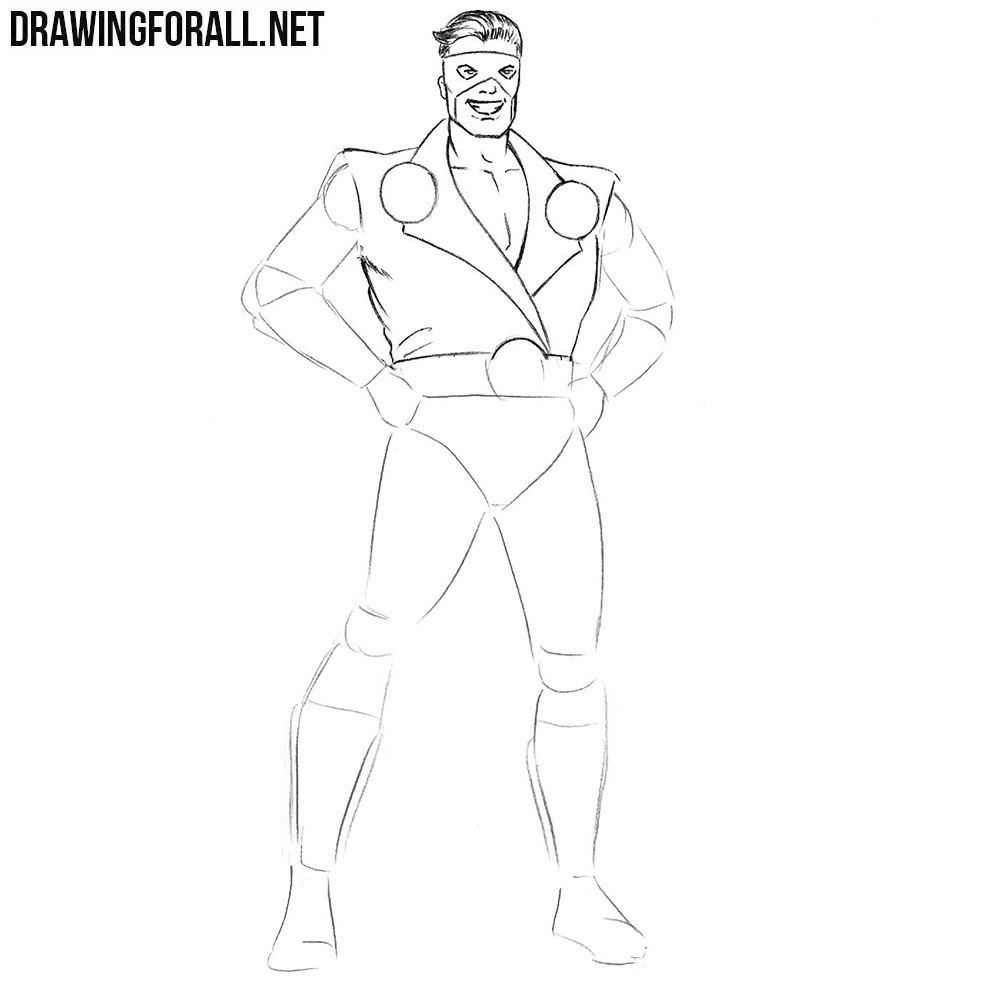 How to draw a Classic Superhero step by step