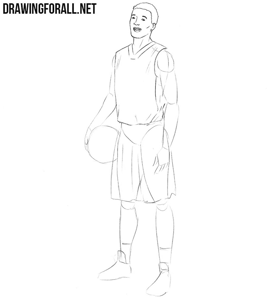 How to draw a basketball player realistic