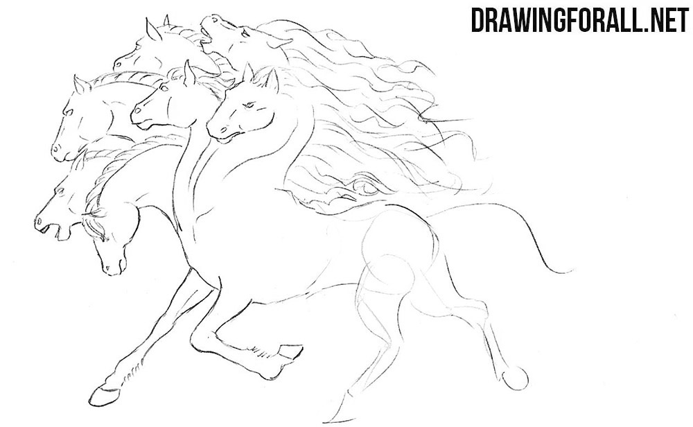 How to draw a creature from myths