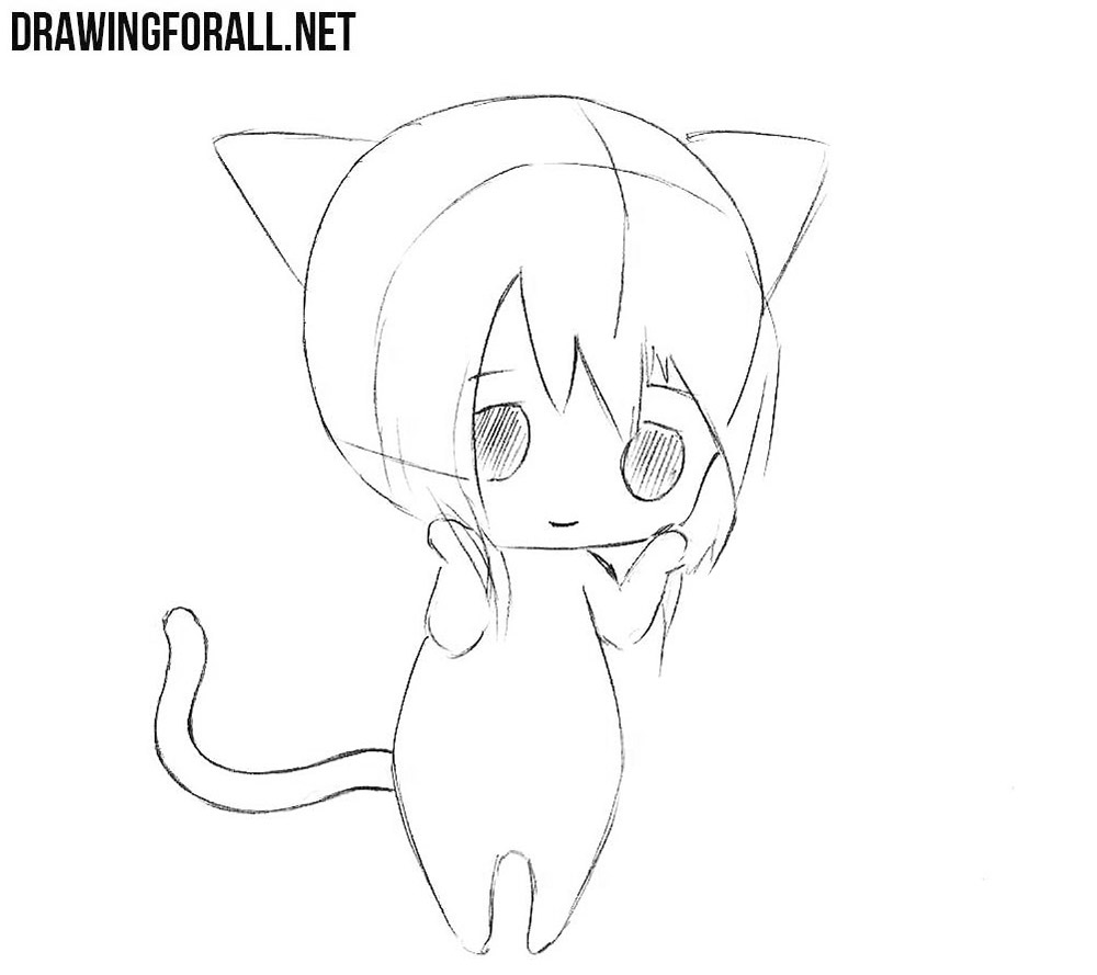 How To Draw A Cute Chibi Easy Drawingforallnet