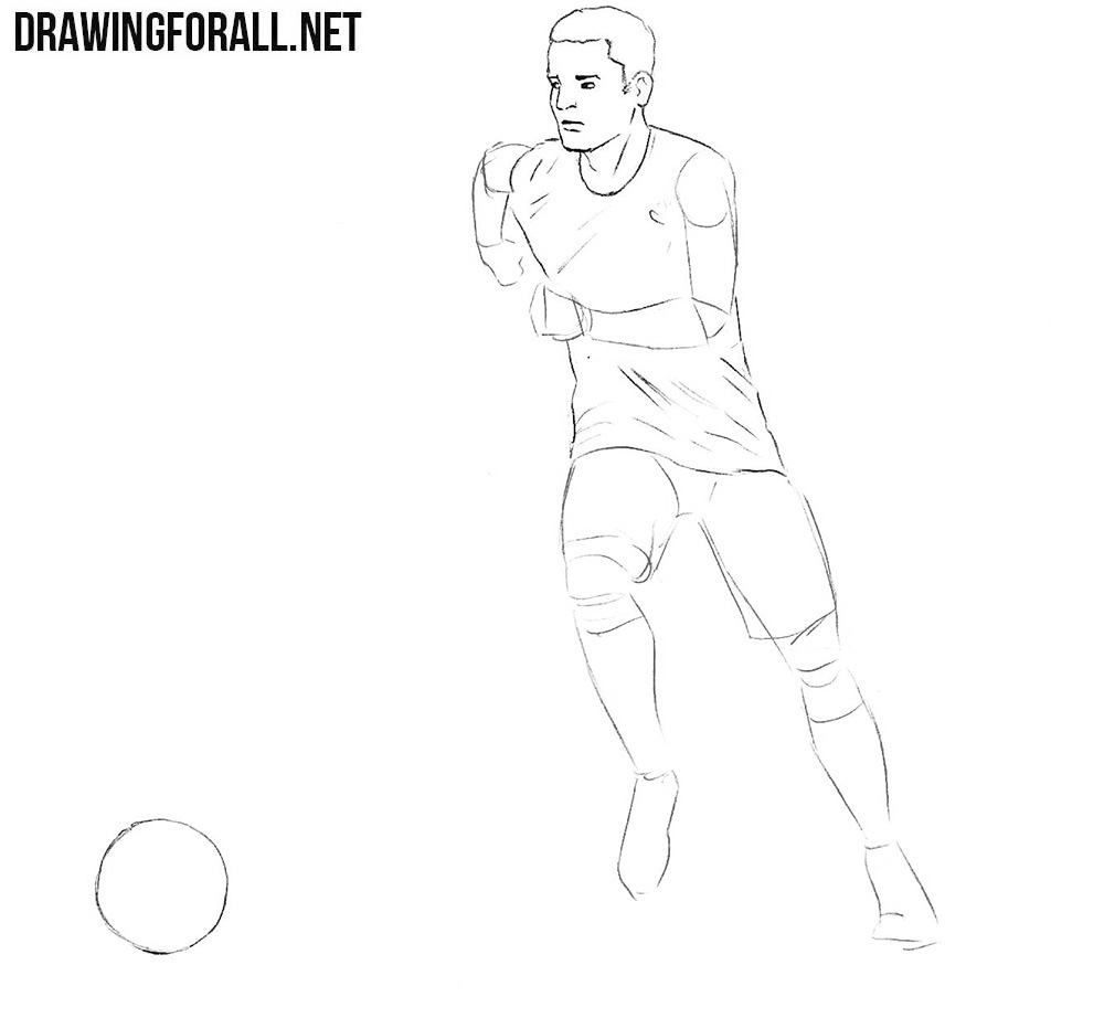 How to Draw a Football Player | Drawingforall net