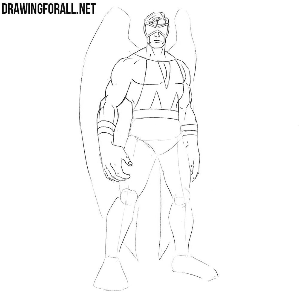 How to draw a superhero