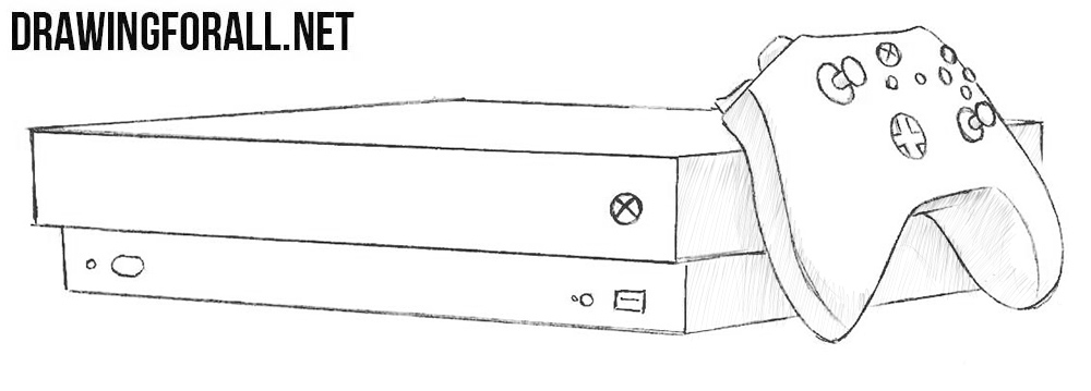 Scribble Drawing Xbox One : How to draw an box one drawingforall