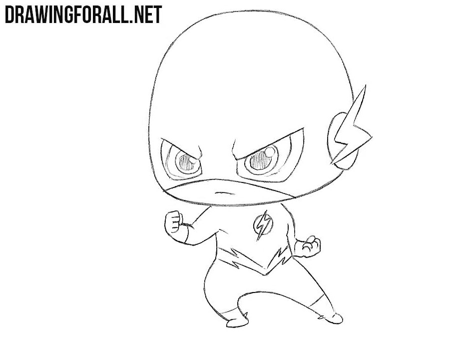 How to draw chibi Flash