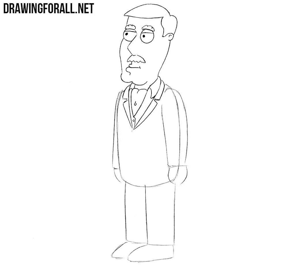 How to sketch Carter Pewterschmidt