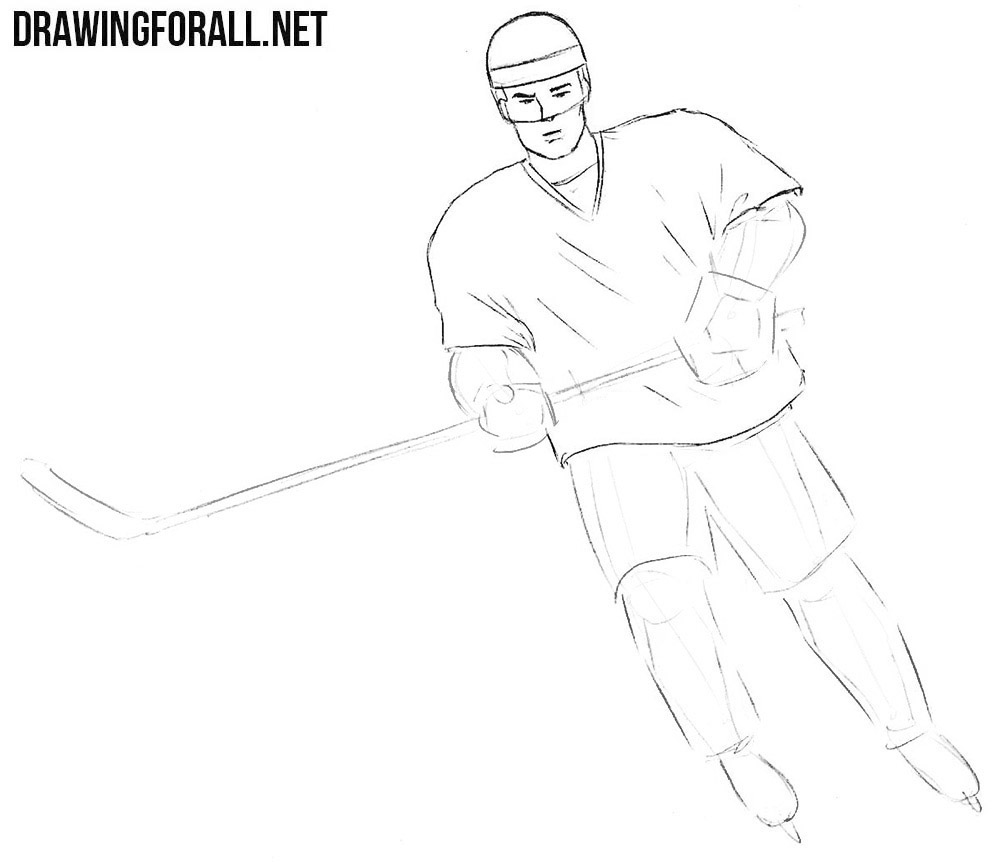 How to sketch a hockey player