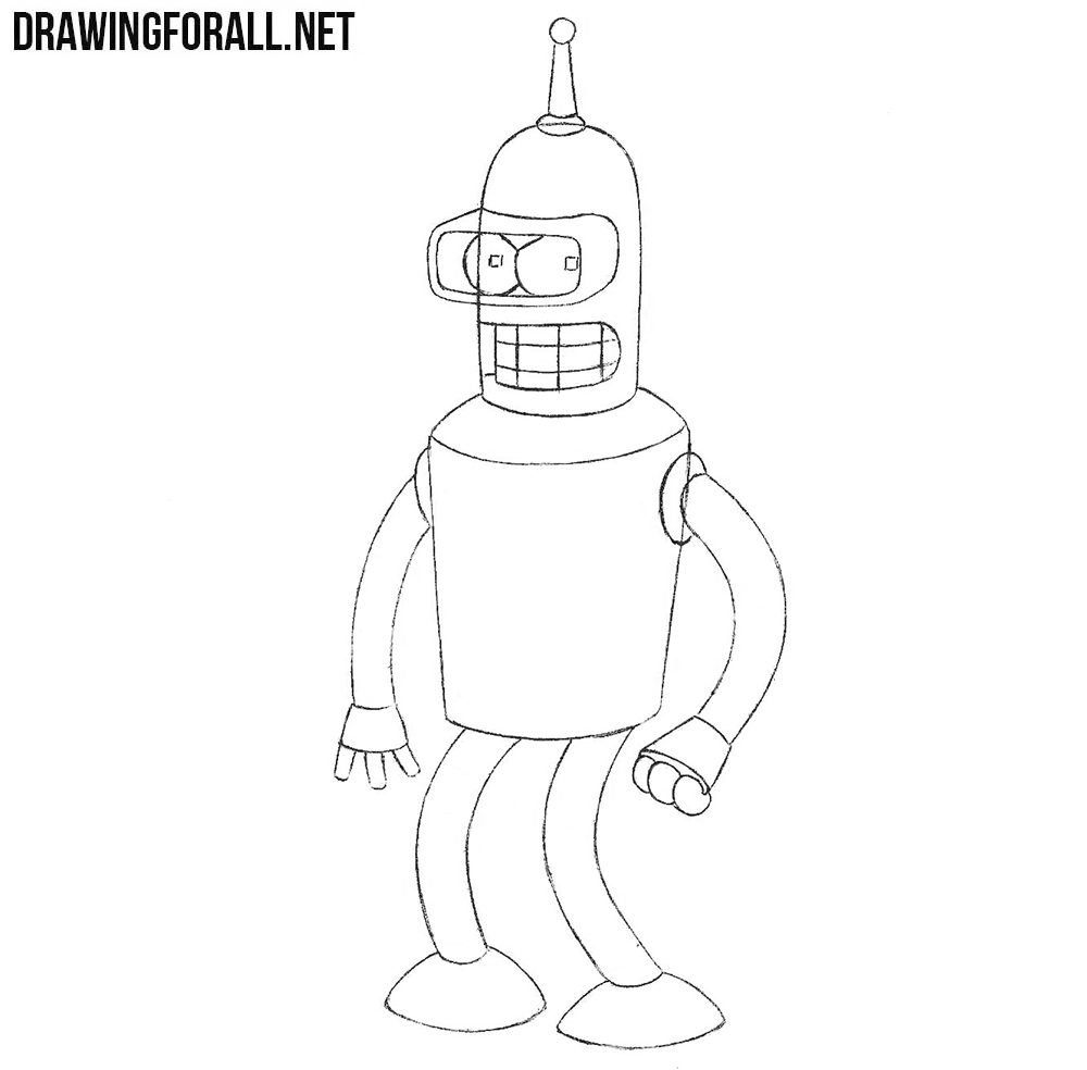 Learn How to Draw Bender from Futurama