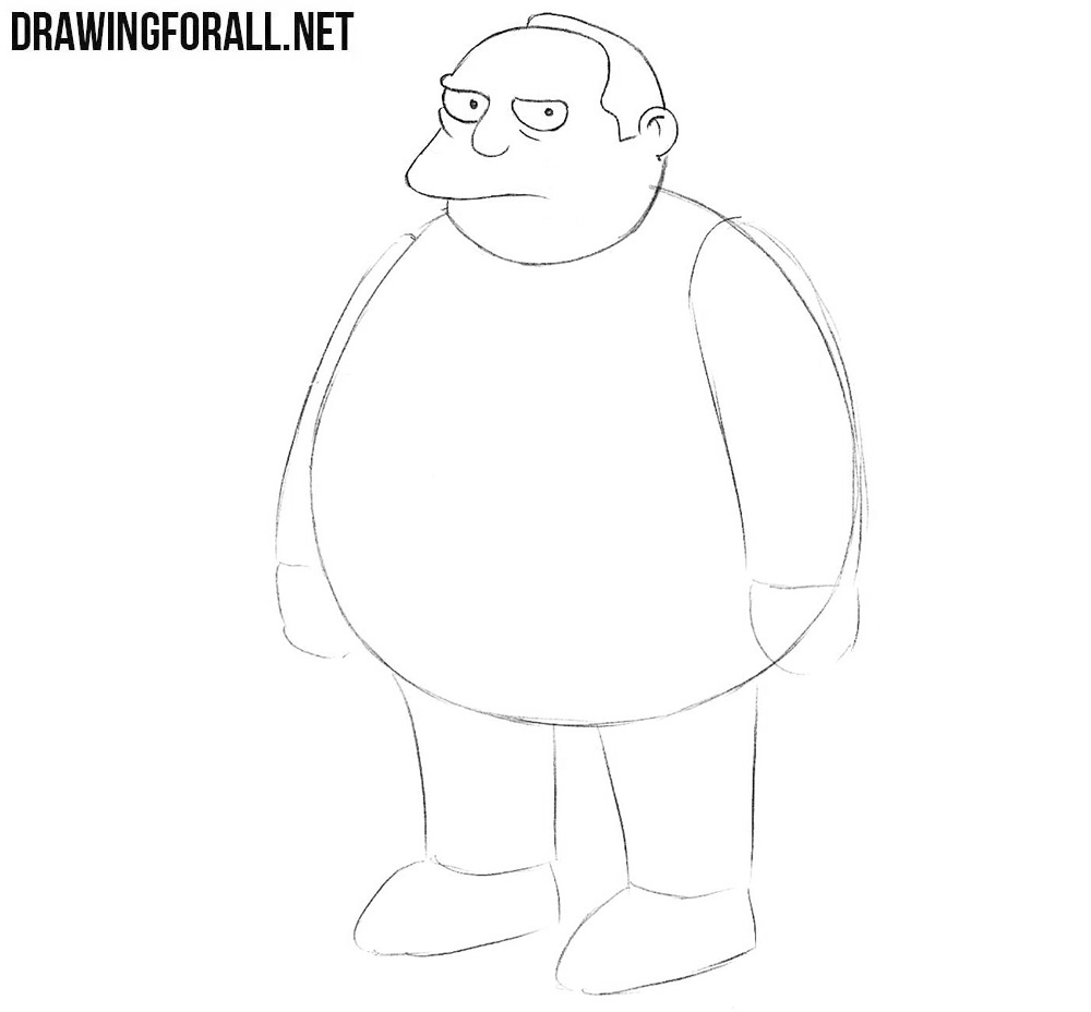 Learn how to draw Comic Book Guy
