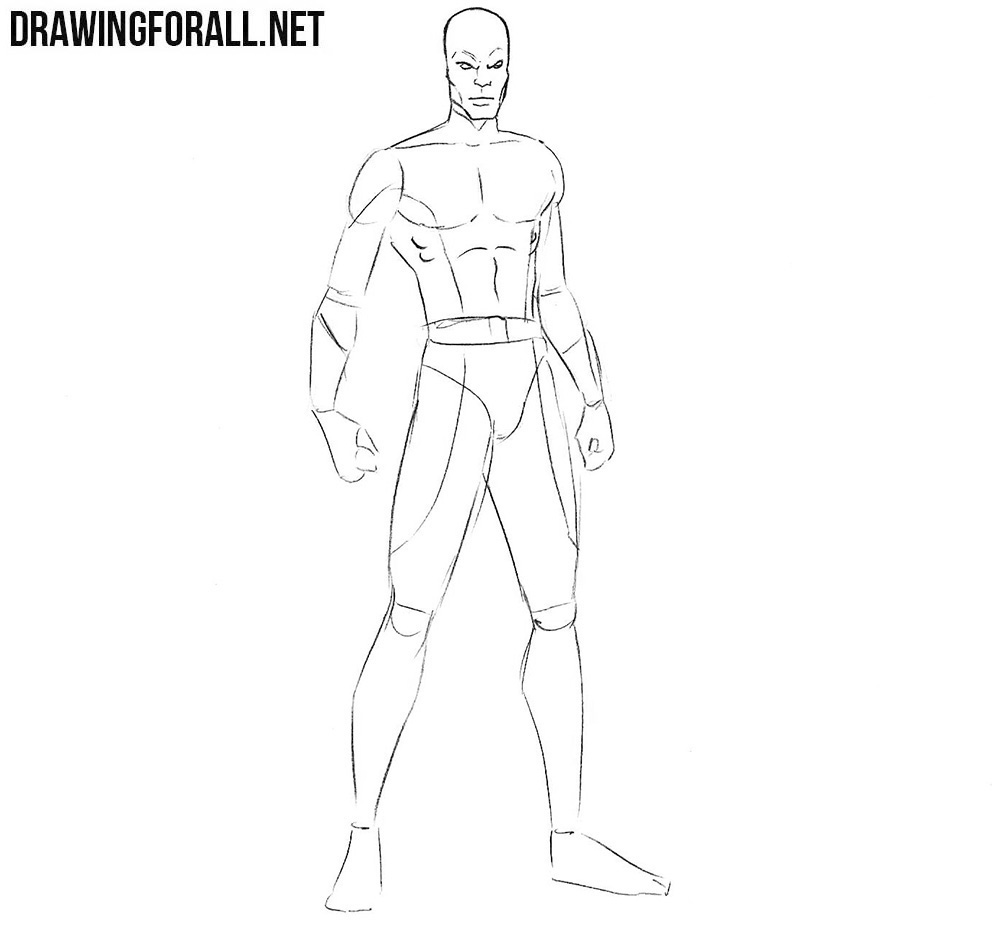 Learn how to draw Darwin from x men