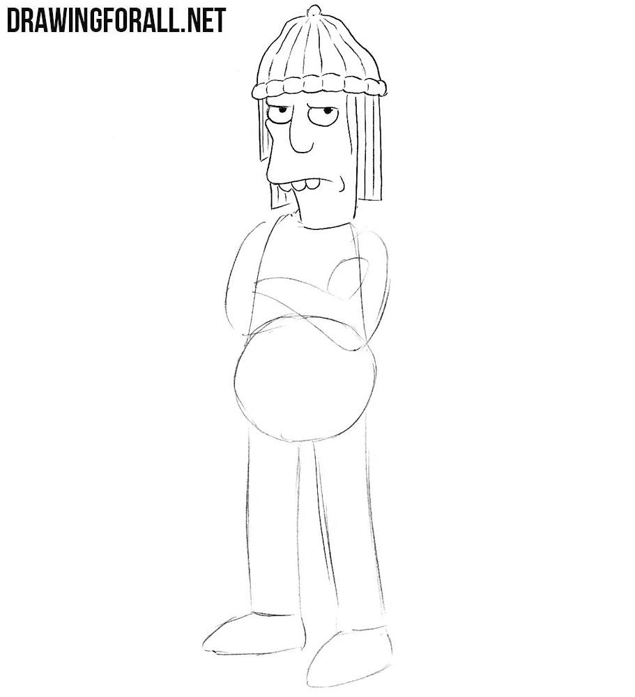 Learn how to draw Jimbo Jones
