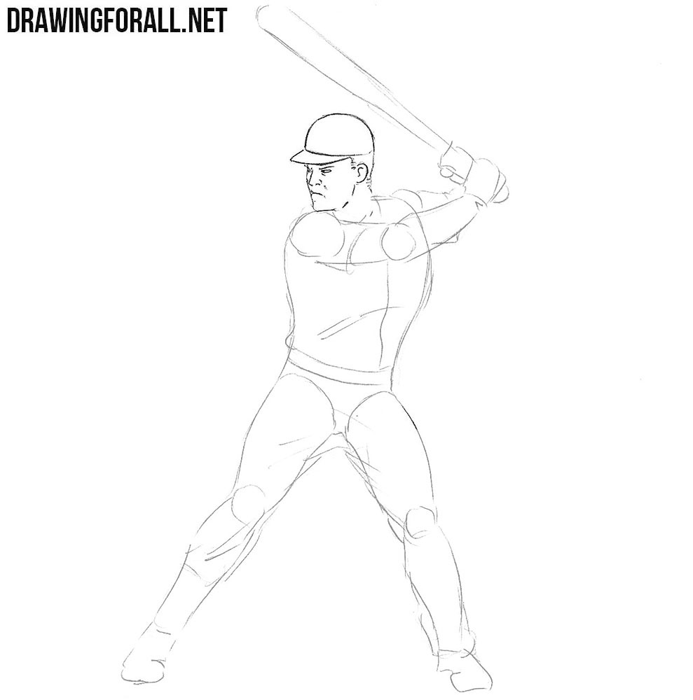Learn how to draw a Baseball Player