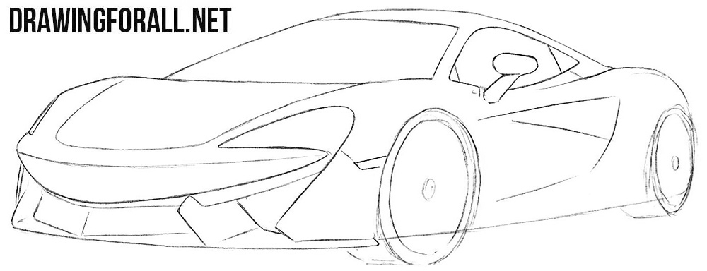 Learn how to draw a McLaren 570s