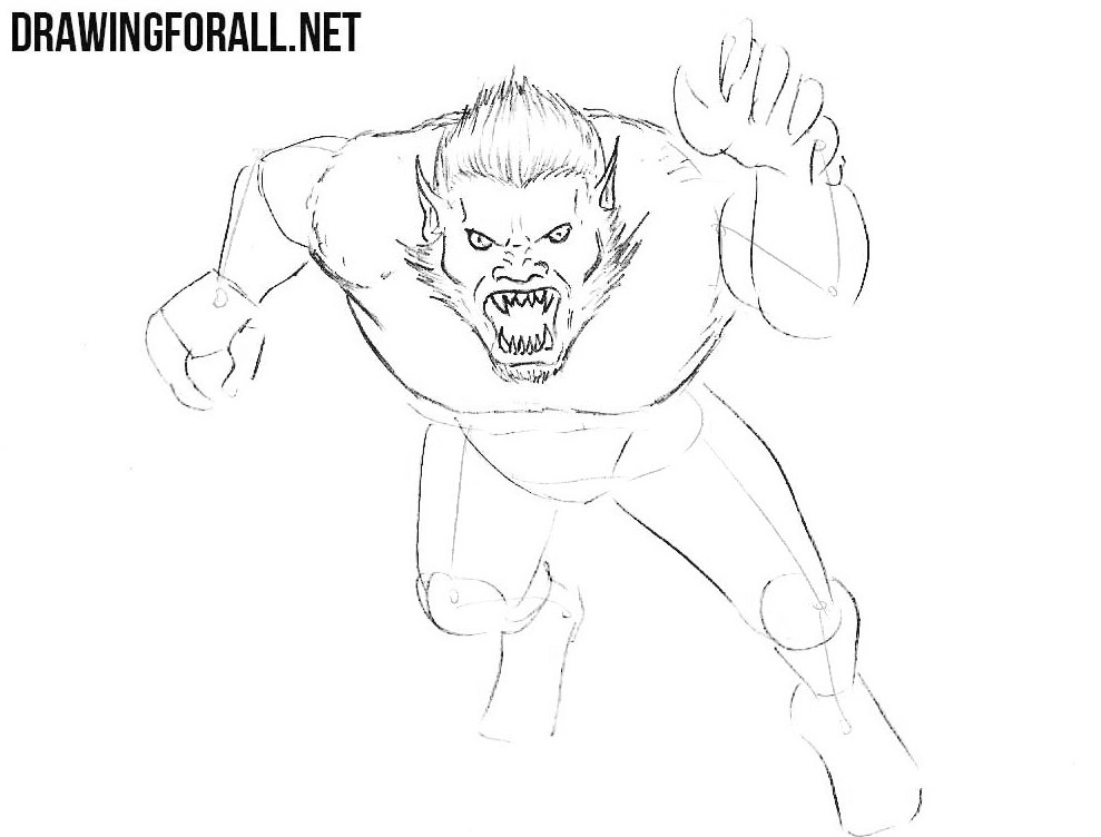 How To Draw A Monster Drawingforall Net