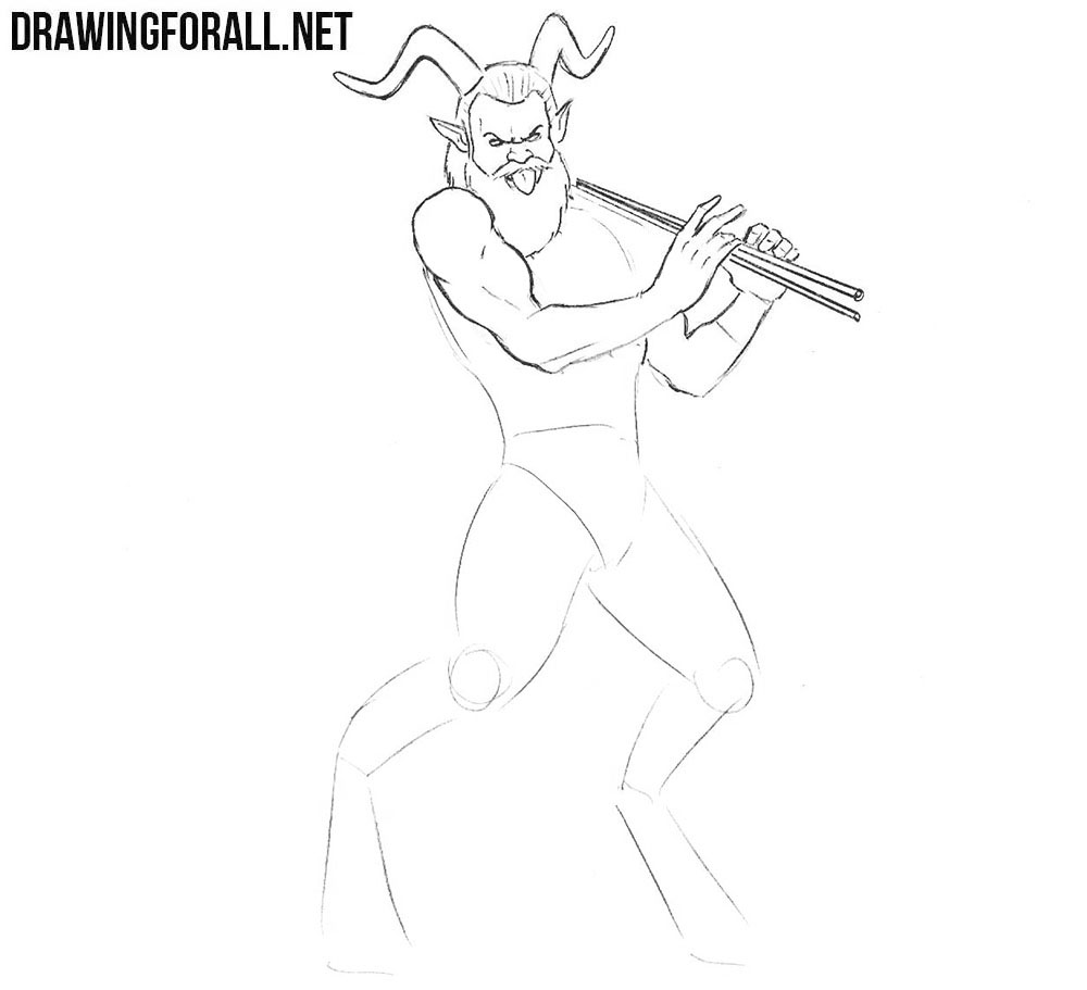 Learn how to draw a satyr step by step