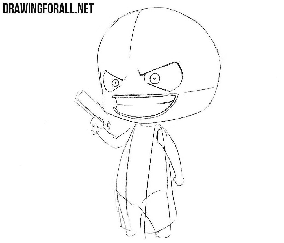 Learn how to draw chibi Joker
