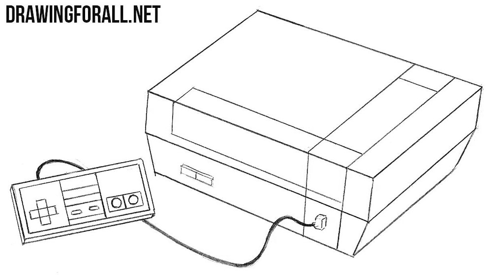 Nintendo Entertainment System drawing
