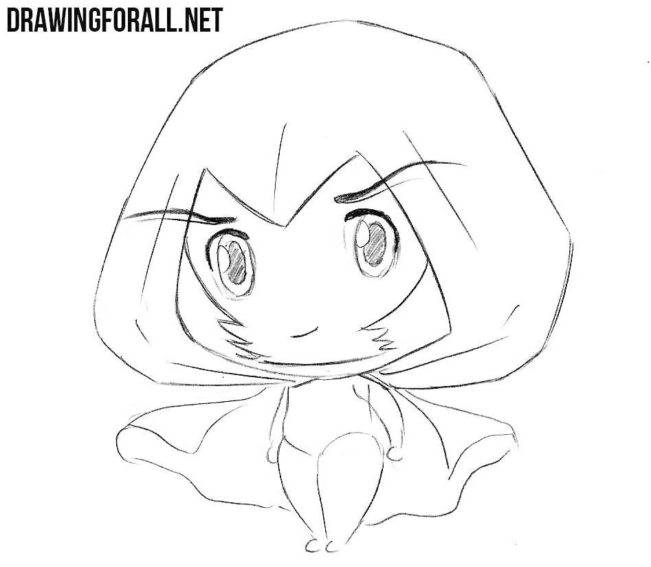 chibi witch drawing tutorial