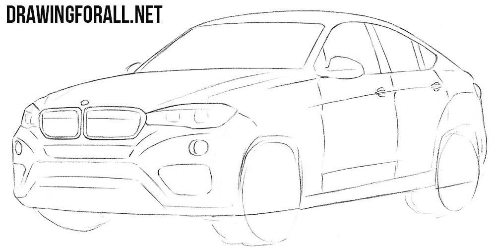 BMW X6 sketching