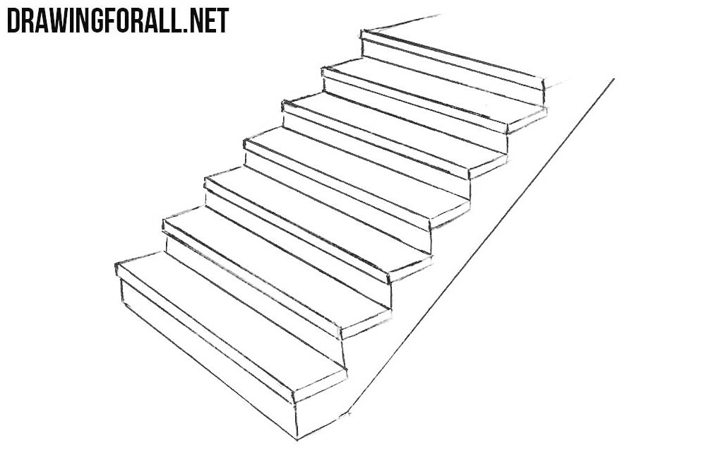 How To Draw Stairs Drawingforall Net