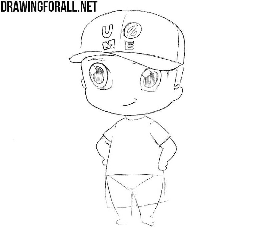 Chibi John Cena drawing tutorial