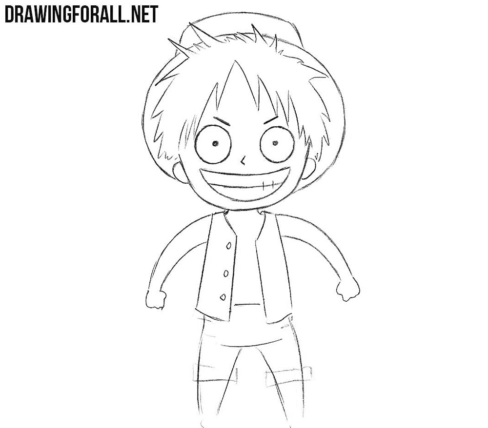 Chibi Monkey D. Luffy drawing