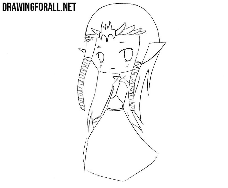 Chibi Zelda drawing tutorial