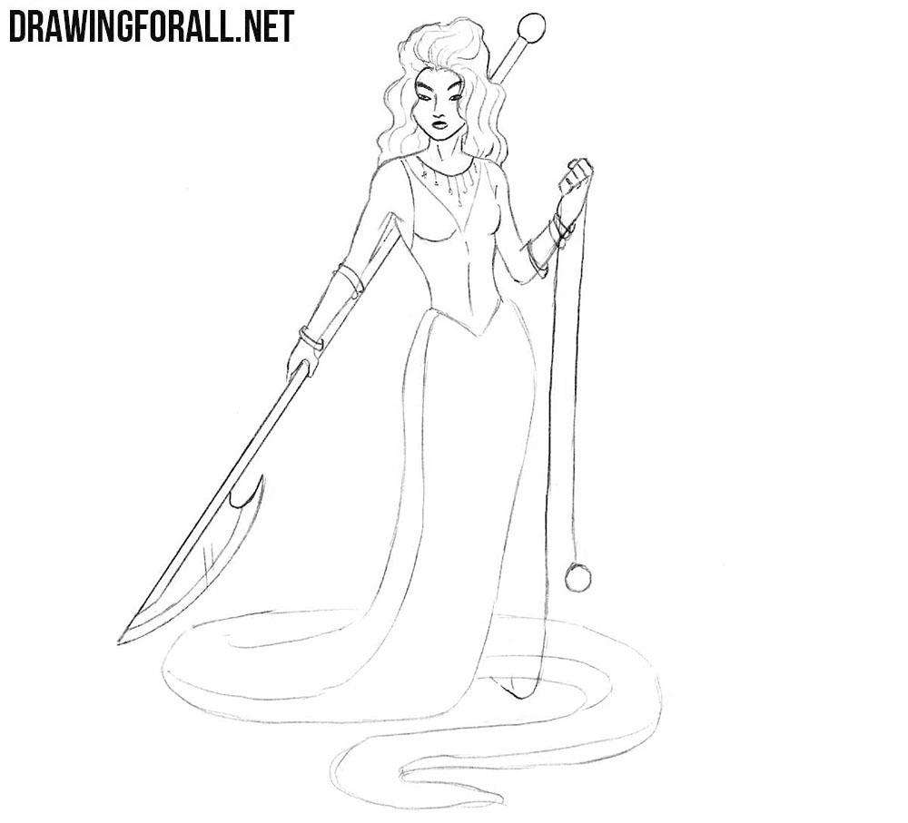 Echidna drawing tutorial