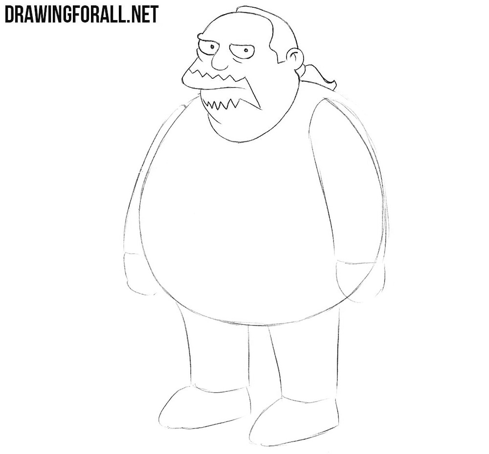How to draw the comic book guy - Jeff albertson ...