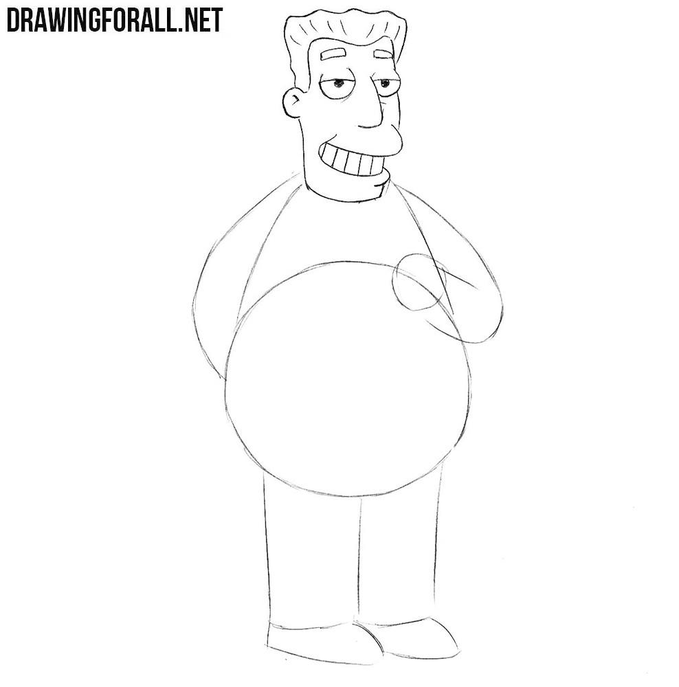 How to draw Kent Brockman
