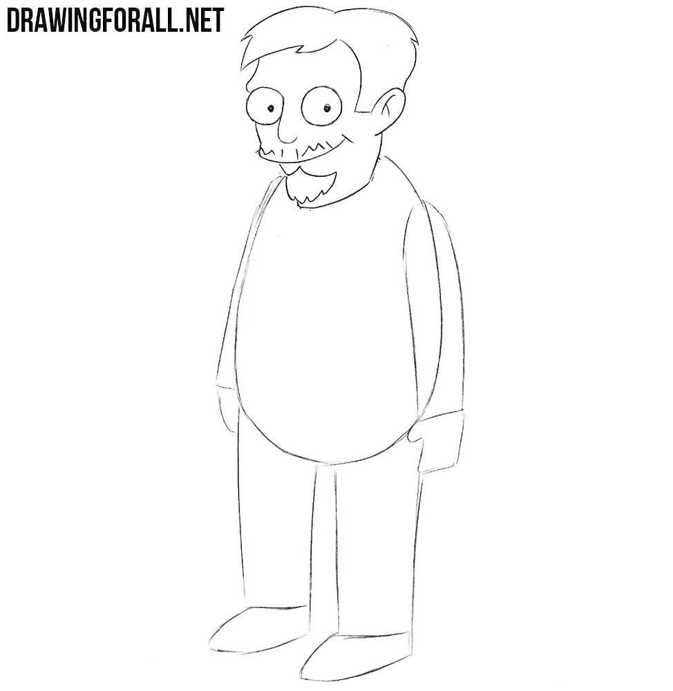How to draw Nick Riviera easy