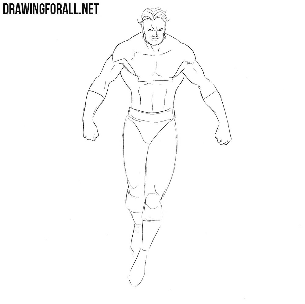 How to draw Vulcan superhero