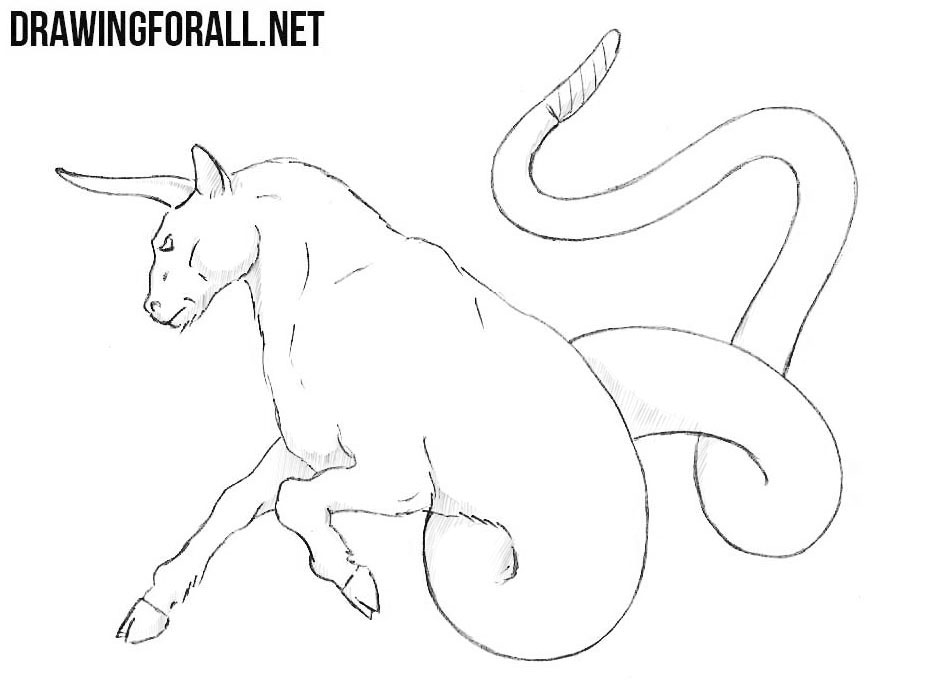 How to draw a Ophiotaurus