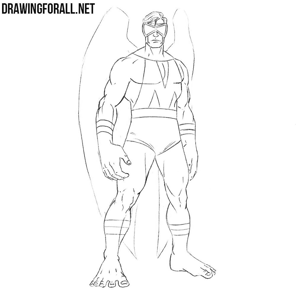 How to draw a character from marvel
