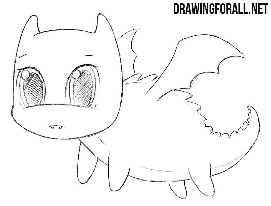How to draw a chibi dragon