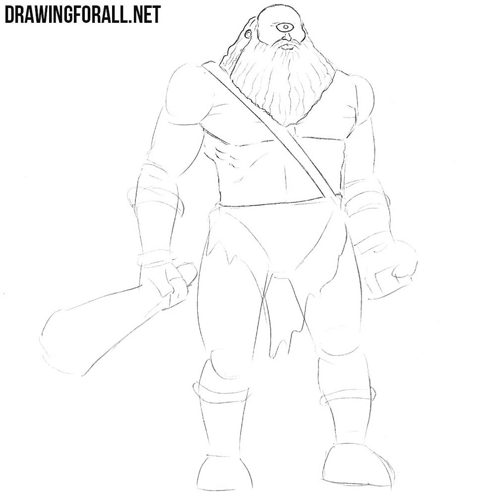 How to draw a cyclops from greek myths