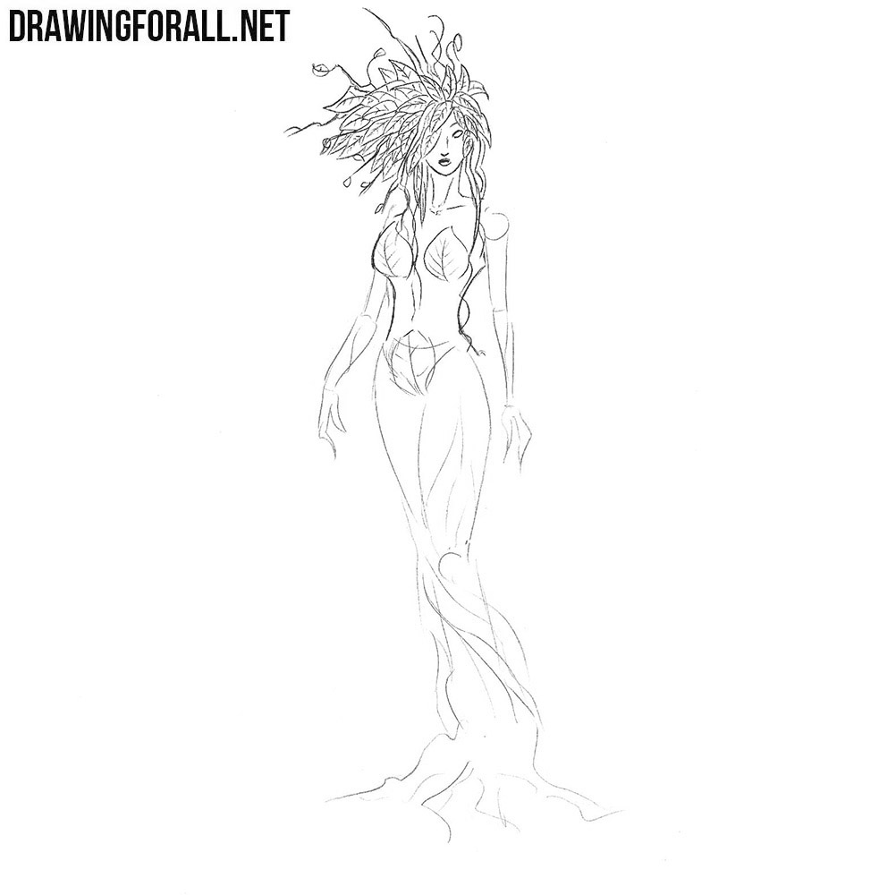How to draw a dryad