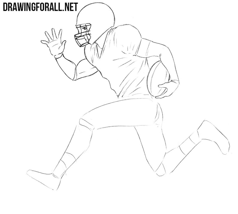 How to draw a football player