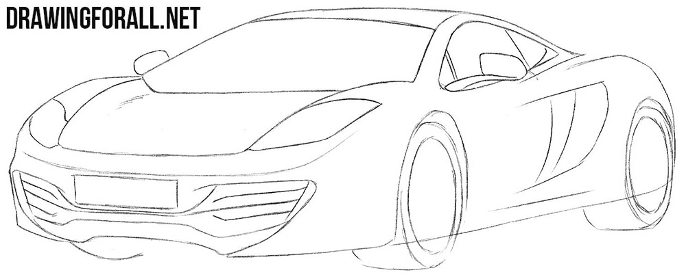 How to draw a super car