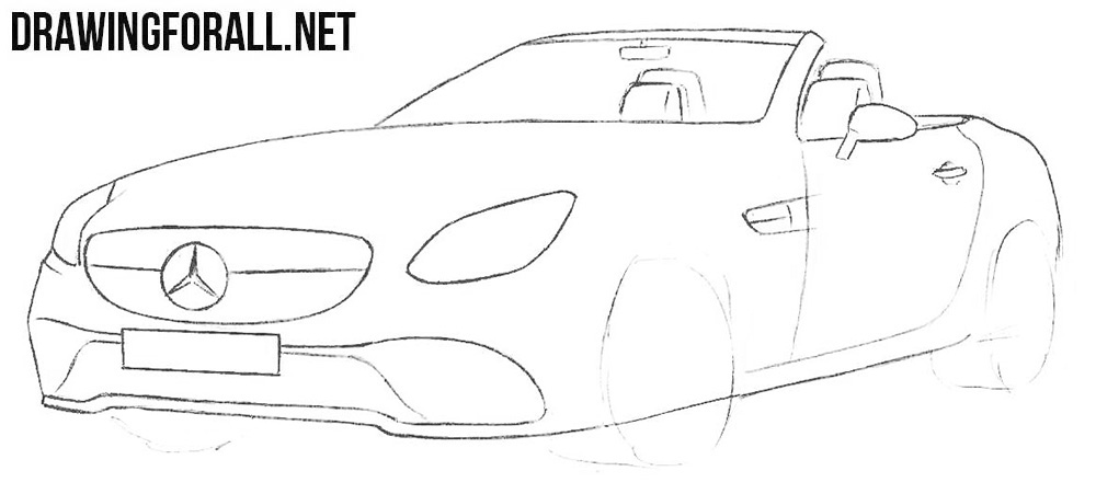 How to draw a supercar mercedes-benz